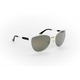 نظارة شمسية ، ماركة CAVALLO BIANCO ، موديل 514 ، للنساء ، لون الاطار ابيض ، شكل اطار عين القطة ، الخامات خليط معدني ، نوع العدسة معكوسة ، لون العدسة ذهبي