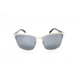 نظارة شمسية ، ماركة CAVALLO BIANCO ، موديل 512 ، نسائي ، لون الإطار فضي ، إطار شكل Wayfare ، خامات خليط معدني ، نوع العدسة معكوسة ، لون العدسة أسود