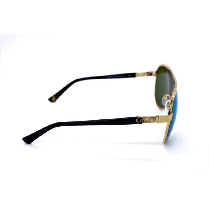 نظارة شمس ، ماركة CAVALLO BIANCO ، موديل 502 ، نسائي ، لون الإطار ذهبي ، إطار على شكل طيار ، خامات خليط معدني ، نوع العدسة معكوسة ، لون العدسة أخضر