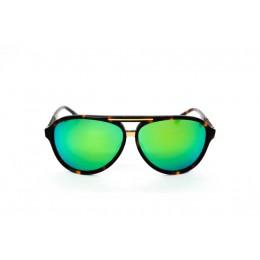 نظارة شمس ، ماركة CAVALLO BIANCO ، موديل 503 ، للنساء ، لون الاطار بني ، اطار افياتور ، خامات بلاستيك ، نوع العدسة معكوسة ، لون العدسة اخضر