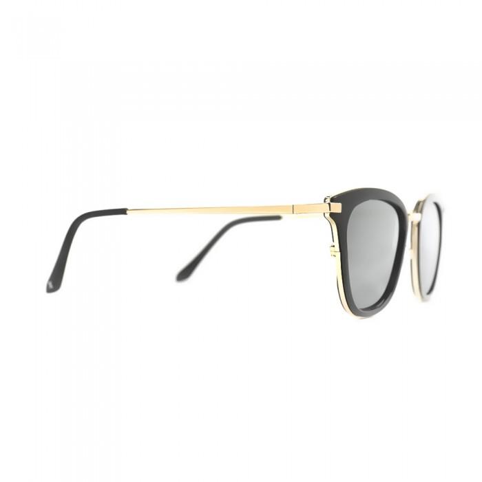 نظارة شمسية,ماركة EXALT CYCLE, موديل 3512,للنساء,الفراشة,إطار اسود, عدسات فضي,خليط معدني