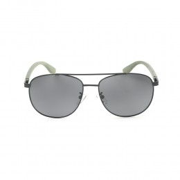 نظارة شمسيه,ماركة EXALT CYCLE موديل 3507, للرجال, افييوتر ,اطار اسود ,عدسة ضد الشمس, لون العدسة أسود, خليط معدني زراع خشب