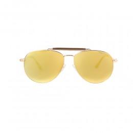 نظارة شمسية,ماركة Tom Ford ,موديل 536,للرجال,افييتور , لون اطار مزيج من الالوان ,عدسة ذهبي,خليط معدني