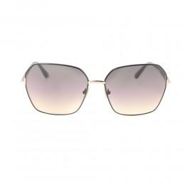 نظارة شمسية,ماركة Tom Ford ,موديل 839,للنساء,مربع , لون اطار اسود ,عدسة بني,خليط معدني