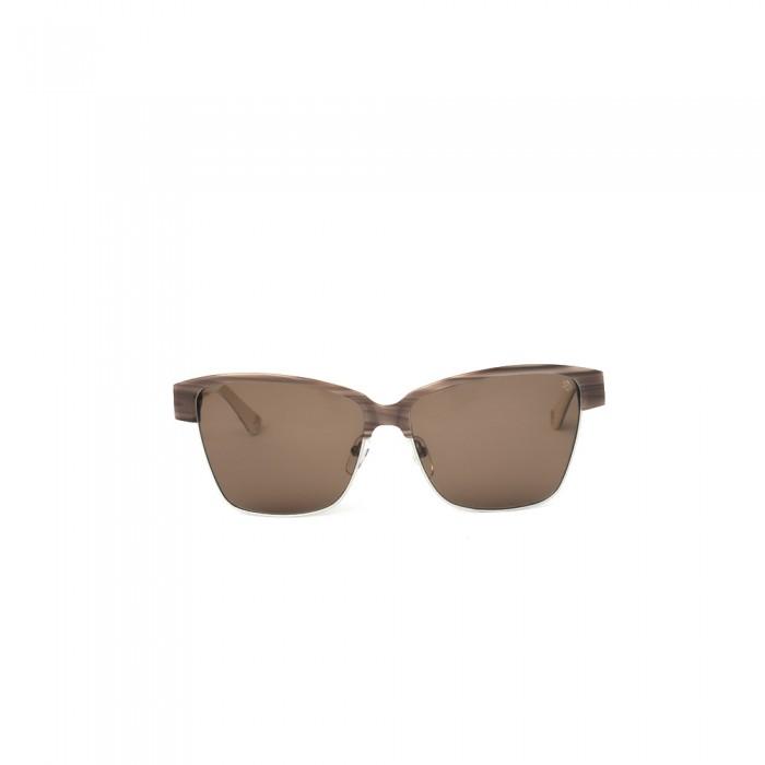 نظارة شمس ، ماركة CAVALLO BIANCO ، موديل 509 ، نسائي ، لون الإطار بني ، إطار شكل الفراشة ، الخامات خليط معدني ، نوع العدسة حماية من الأشعة فوق البنفسجية ، لون العدسة بني