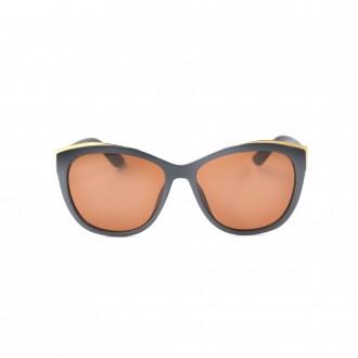 نظارة شمسية,ماركة OCEAN DRIVE, موديل 9827,للنساء,عيون القط,إطار رمادي, عدسات بني,خليط معدني