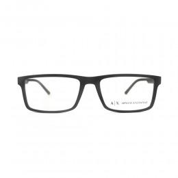 نظارة طبية ,ماركة Armani Exchnge ,موديل 3060,للجنسين,مستطيل , لون اطار اسود ,عدسة شفاف,اسيتات