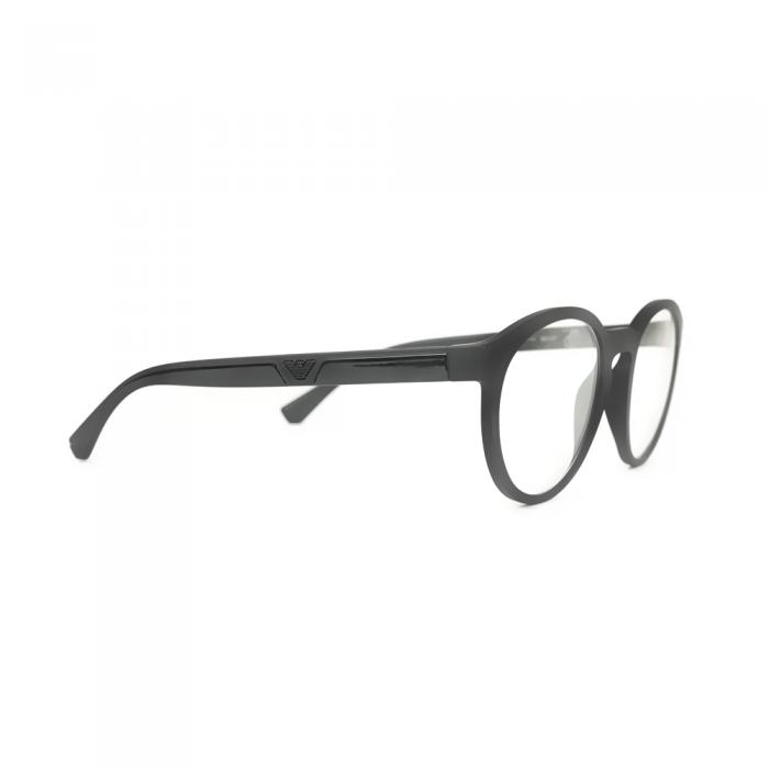 نظارة طبية ,ماركة Emporio Armani ,موديل 4152,للرجال,مستدير , لون اطار اسود ,عدسة شفاف,اسيتات