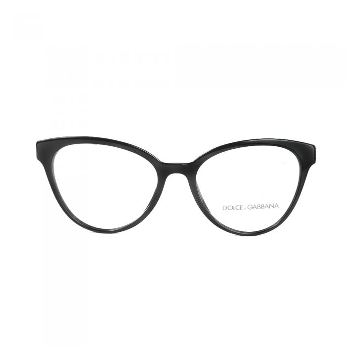 نظارة طبية ,ماركة Dolce &Gabbana ,موديل 3320,للجنسين,عيون القط , لون اطار اسود ,عدسة شفاف,اسيتات