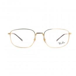 نظارة طبية ,ماركة RAYBAN ,موديل 6457,للجنسين,مستطيل , لون اطار ذهبي ,عدسة شفاف,خليط معدني