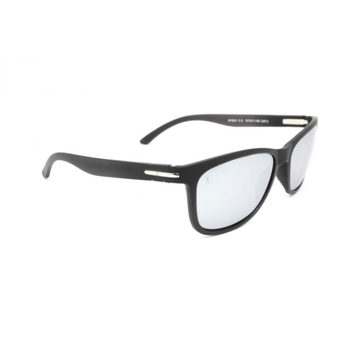 نظارة شمسية,ماركة EXALT CYCLE, موديل 3511,للجنسين,وايفير,إطار اسود, عدسات فضي,خليط معدني