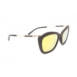 نظارة شمسيه,ماركة EXALT CYCLE موديل  3514,للنساء, شكل  الفراشة ,لون  بني,عدسة عاكسة, لون العدسة , ذهبي, خليط معدني