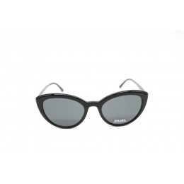 نظارة شمسيه,ماركة PRADA موديل  02V,للنساء, شكل  الفراشة ,لون  أسود,عدسة  حماية من الأشعة فوق البنفسجية, لون العدسة , أسود, بلاستيك