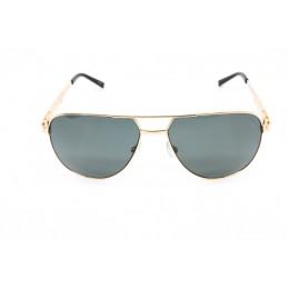 نظارة شمسيه,ماركة CHARRIOL موديل  9016,للرجال, شكل افييتور ,لون  ذهبي,عدسة  حماية من الأشعة فوق البنفسجية, لون العدسة , أسود, خليط معدني