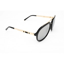 نظارة شمسيه,ماركة CHARRIOL موديل  9017,للنساء, شكل افييتور ,لون  أسود,عدسة عاكسة, لون العدسة , أسود, خليط معدني