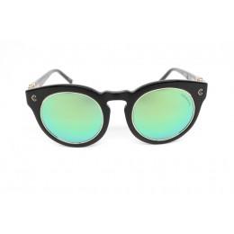 نظارة شمسيه,ماركة CHARRIOL موديل  9003,للنساء, شكل  دائري ,لون  أسود,عدسة عاكسة, لون العدسة , أخضر, بلاستيك