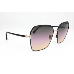 نظارة شمسيه,ماركة TOM FORD موديل  839,للنساء, شكل  كبير الحجم ,لون  أسود,عدسة  حماية من الأشعة فوق البنفسجية, لون العدسة , بنفسجي, خليط معدني