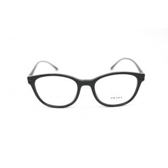 نظارة طبية ,ماركة PRADA موديل  02WV,للنساء, شكل وايفير ,لون  أسود,, خليط معدني