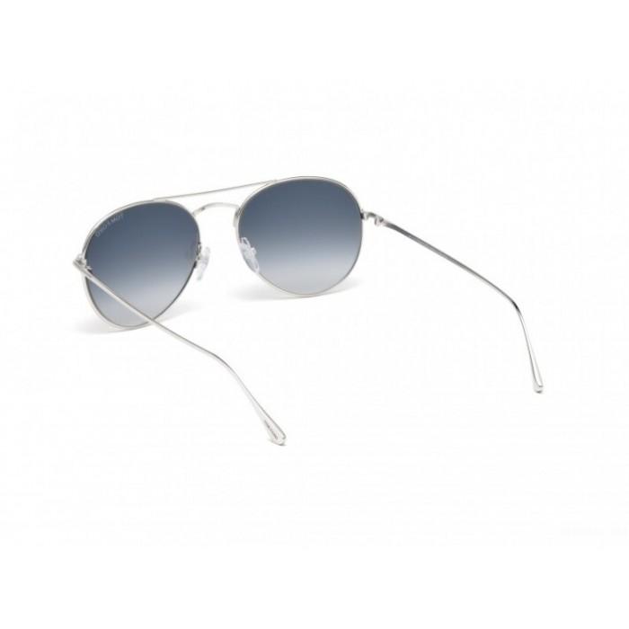نظارة شمسيه,ماركة TOM FORD موديل  551, للجنسين, شكل افييتور ,لون  فضي,عدسة  حماية من الأشعة فوق البنفسجية, لون العدسة , أسود, خليط معدني